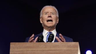 Joe Biden discorso comizio (La Presse)