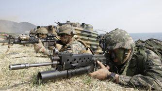 Marines Usa e Corea in Asia (La Presse)