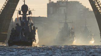 Navi della Marina russa (La Presse)