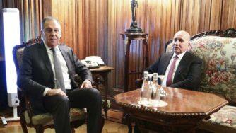 Sergei Lavrov e Fuad Hussein parlano di Russia e Iraq (La Presse)