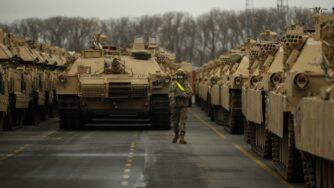 Carri armati americani in Beglio, missione Nato (La Presse)