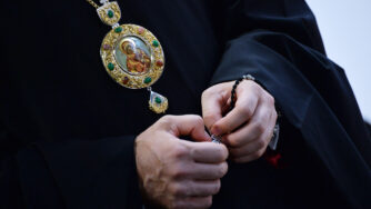Medaglia metropolita Hilarion chiesa di Mosca (La Presse)