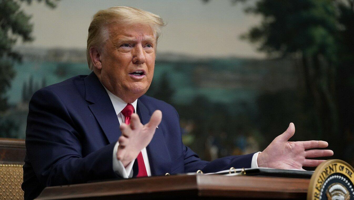 Donald Trump parla per Ringraziamento (La Presse)