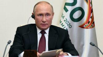 Vladimir Putin conferenza covid Sputnik vaccino (La Presse)