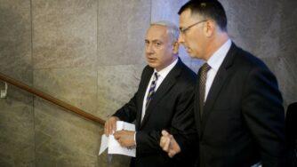 Benjamin Netanyahu e Gideon Saar (la Presse)