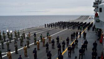 Portaerei Cavour in partenza (Marina militare)
