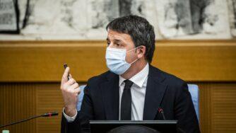 Conferenza stampa di Italia Viva sulla crisi di governo, Matteo Renzi (Fotogramma)