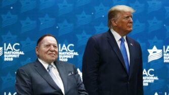 Donald Trump e Sheldon Adelson (La Presse)