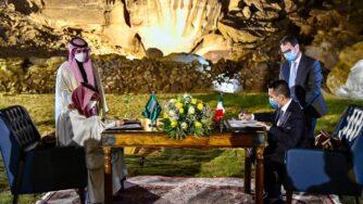 Il ministro degli Esteri Luigi Di Maio in Arabia Saudita (Facebook Luigi Di Maio)