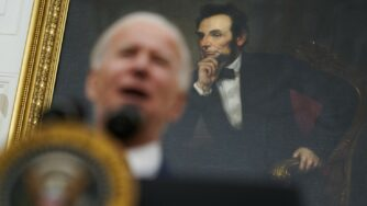 Joe biden discorso Casa Bianca Lincoln (La Presse)