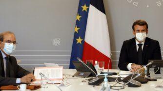Mohammed Moussaoui e Emmanuel Macron (La Presse)