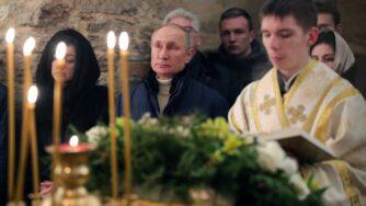 Vladimir Putin messa di Natale (La Presse)