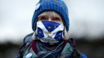 Scozia, manifestante anti Brexit (Getty)