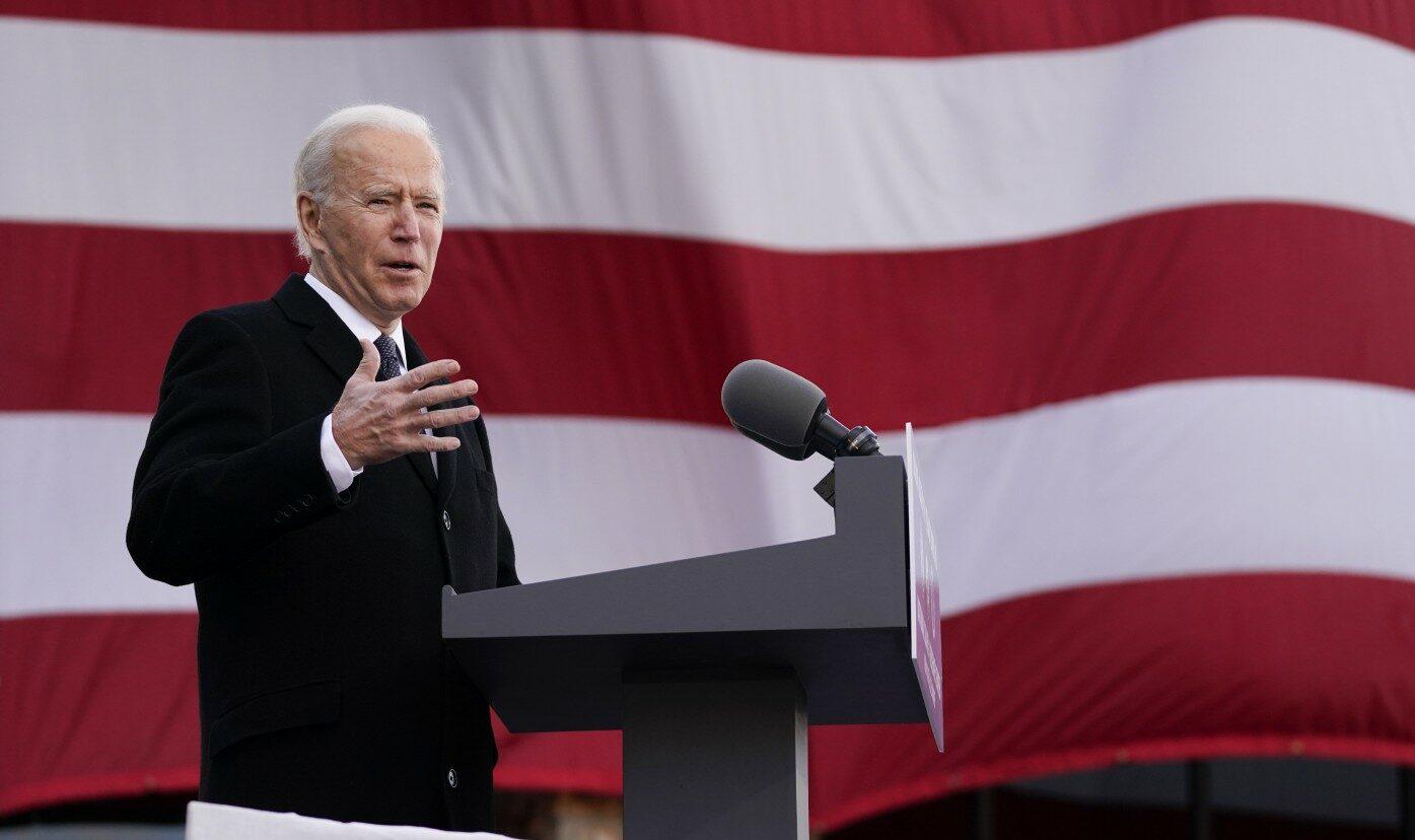 Usa, discorso del Presidente eletto Joe Biden a New Castle nel Delaware (La Presse)