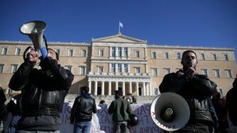 Grecia, studenti e insegnanti manifestano (La Presse)