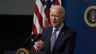 Joe Biden parla (La Presse)
