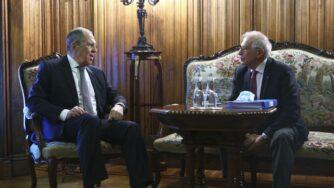 Lavrov e Borrell (La Presse)