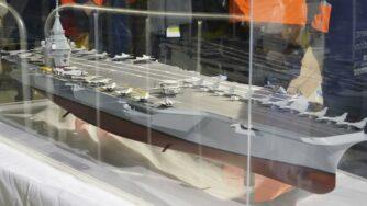 Modello nuova portaerei francese (La Presse)