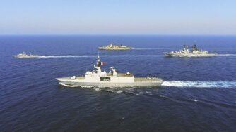 Navi marina francese, greca e italiana Egeo (La Presse)