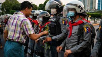 Proteste in Myanmar (Getty)