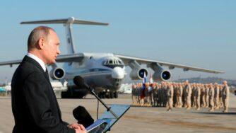 Vladimir Putin a Kheimim, Siria (La Presse)