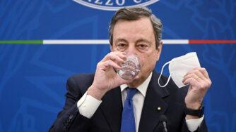 Conferenza stampa del Presidente Mario Draghi (La Presse)