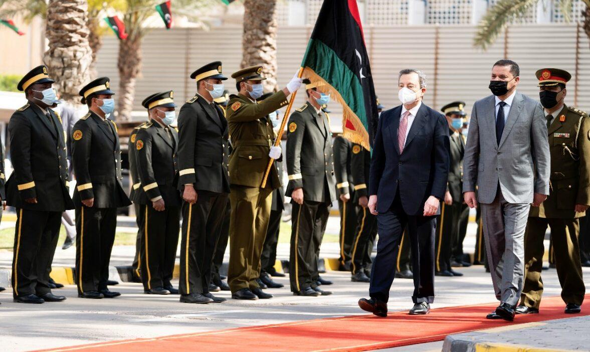 Libia, Mario Draghi a Tripoli (La Presse)