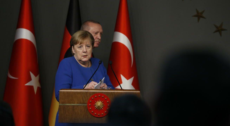 Merkel e Erdogan (La Presse)