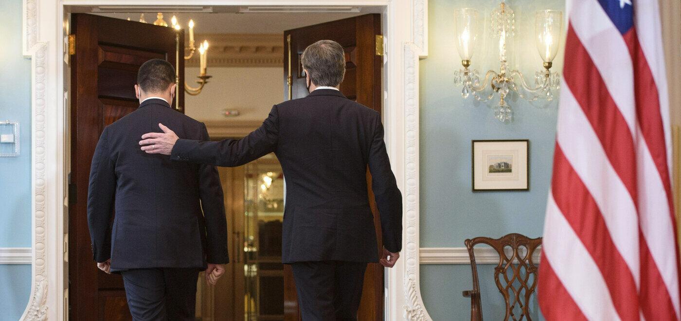 Washington, il ministro degli Esteri Luigi Di Maio incontra il segretario di Stato Antony Blinken