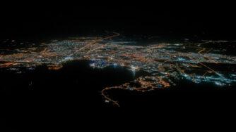 Doha in Qatar di notte