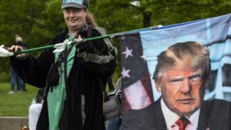 Un supporter di Donald Trump (LaPresse)