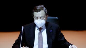 Mario Draghi in Portogallo (La Presse)