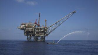 Gas Israele piattaforma (La Presse)