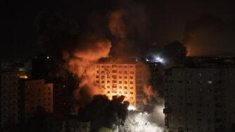 Riad israeliano su Gaza (La Presse)