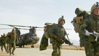 Soldati Usa a Bagram, Afghanistan (La Presse)