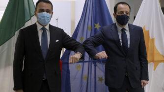 il ministro degli EsteriNicos Christodoulides e il ministro degli Esteri italiano Di Maio