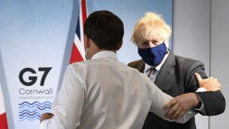 Boris Johnson riceve Emmanuel Macron al G7 in Cornovaglia (La Presse)