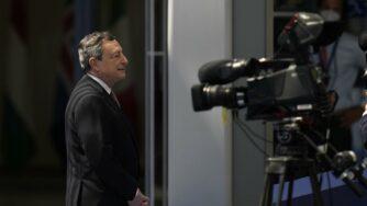 Draghi a Bruxelles (La Presse)