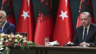 Erdogan e Rama, Albania e Turchia (La Presse)