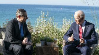 G7, incontro bilaterale tra Biden e Draghi (La Presse)