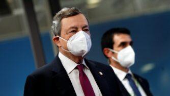 Mario Draghi Consiglio Ue (La Presse)
