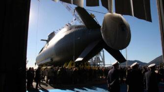 Sottomarino italiano, varo (La Presse)