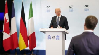 Joe Biden al vertice G7 (La Presse)