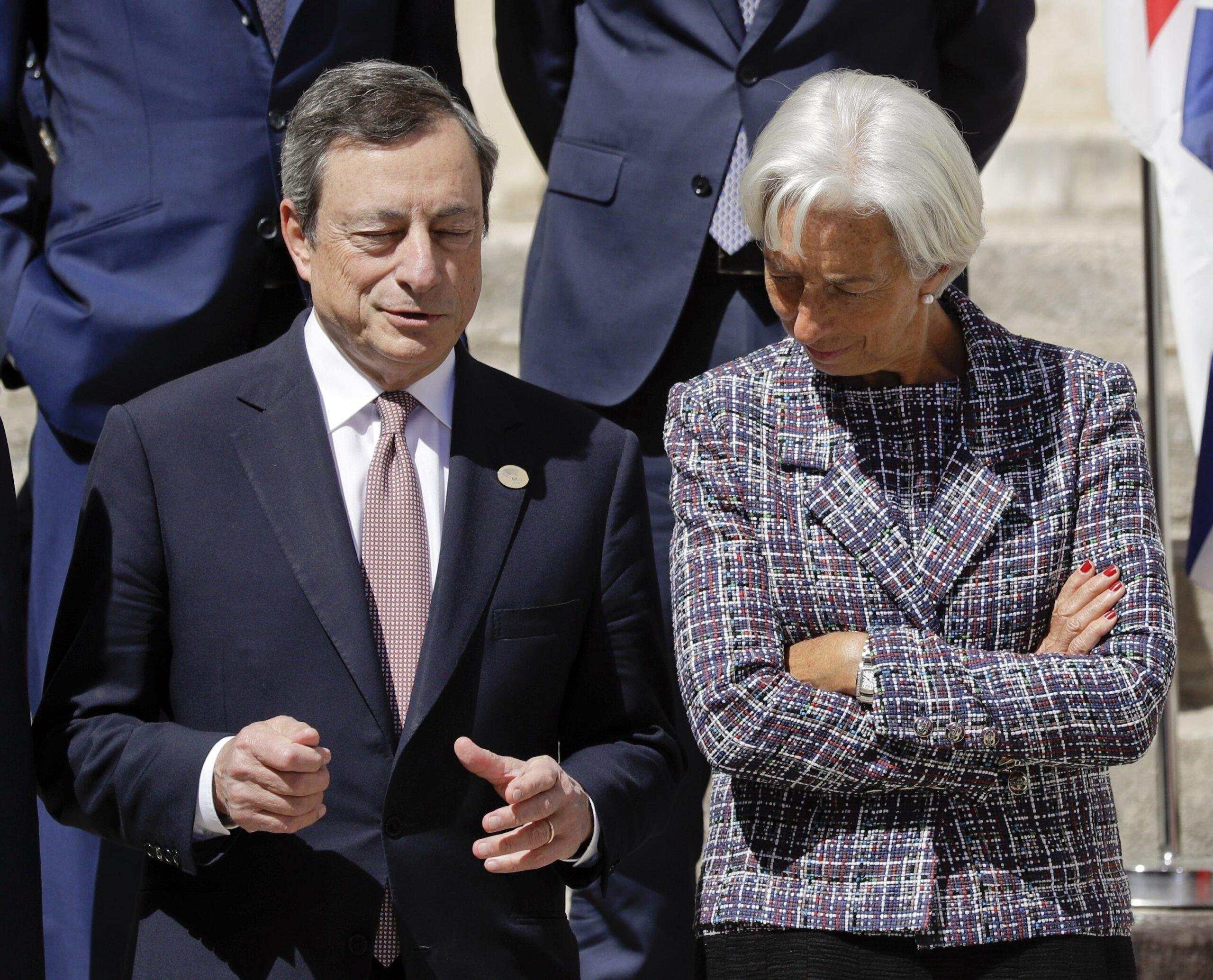 Mario Draghi e Christine Lagarde