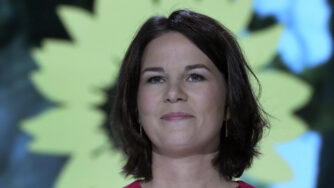 Germany's Green Party co-chairwoman Annalena Baerbock