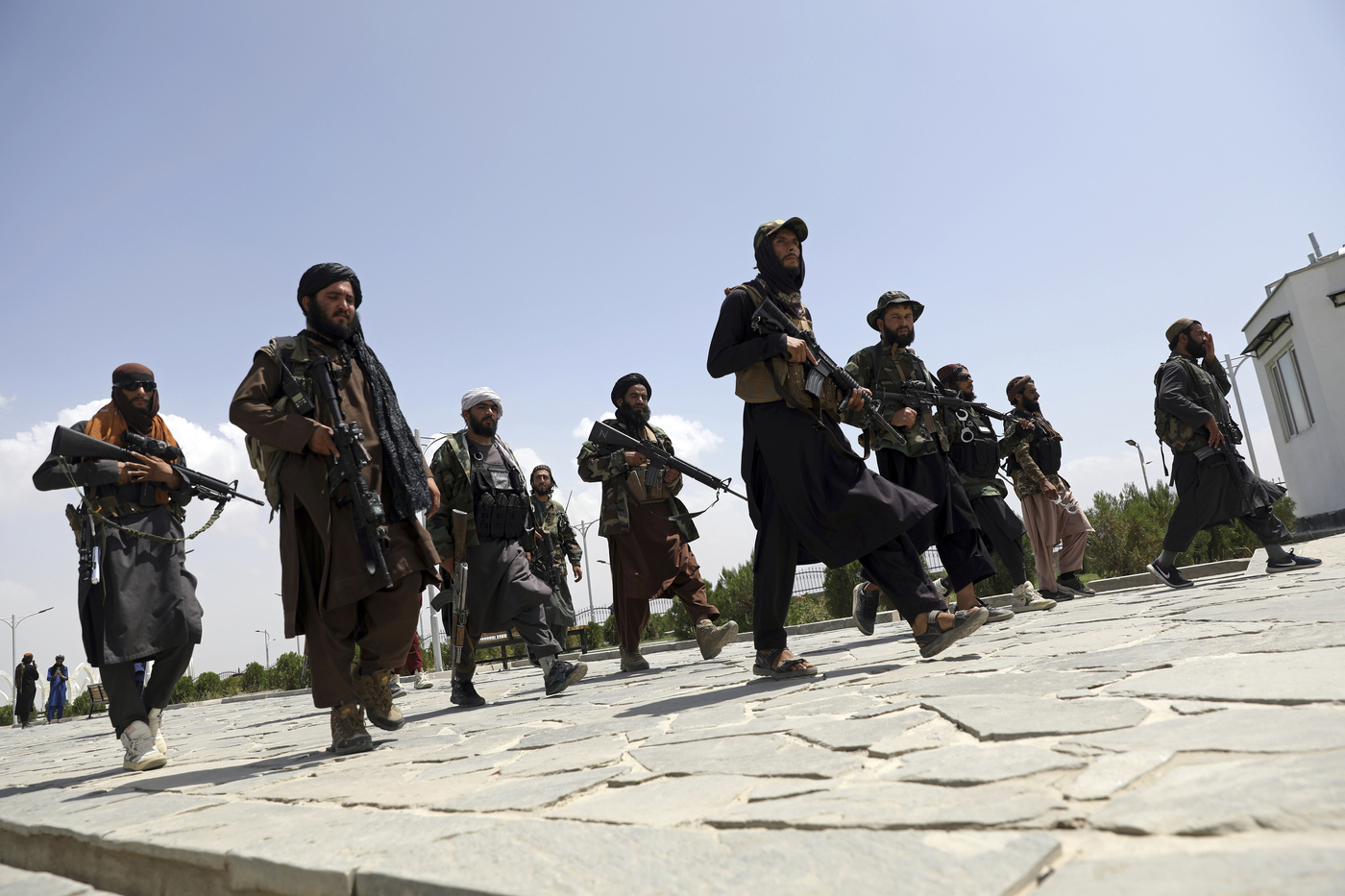 Afghanistan, combattenti talebani (La Presse)