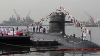 India, cerimonia di messa in servizio del terzo sottomarino classe Scorpene INS Karanj (la Presse)