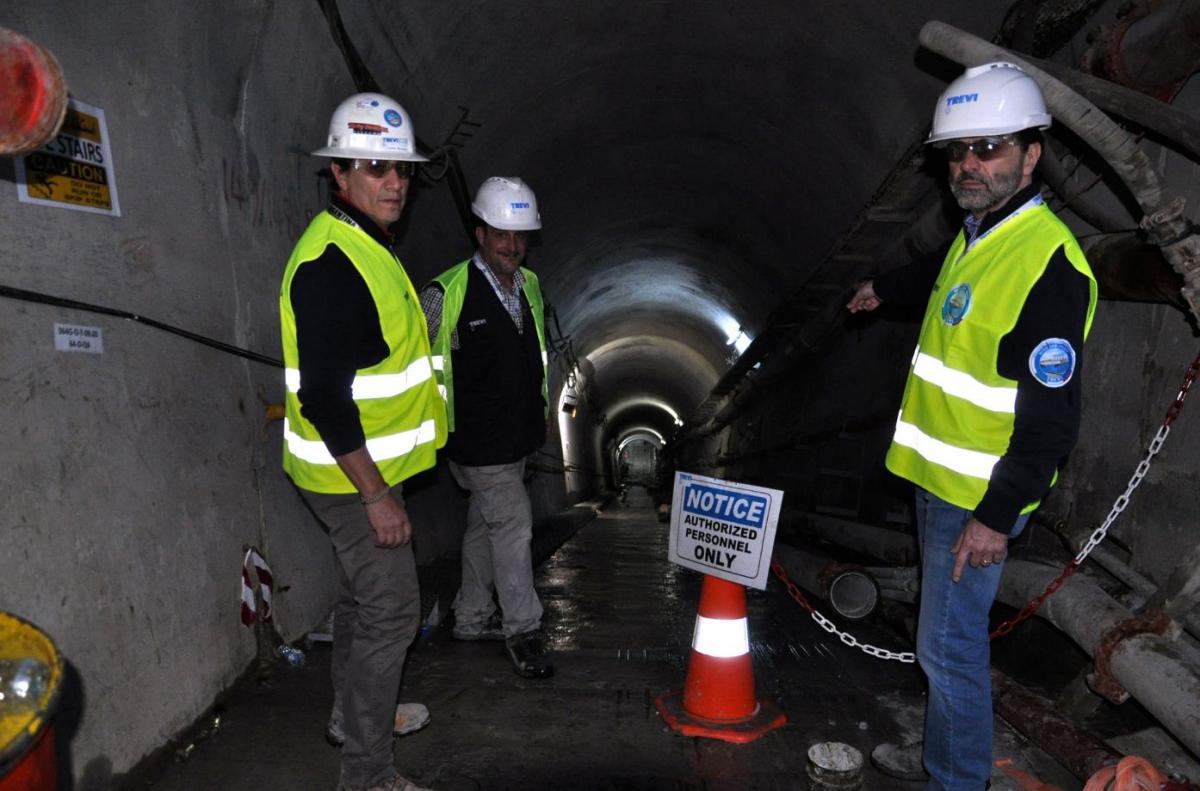 Il tunnel nella diga di Mosul dove lavora la ditta italiana Trevi DSC_0777